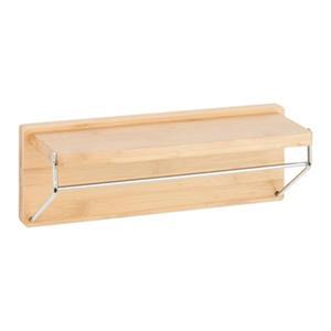 Honey Can Do Bamboo Wall Shelf with Chrome Bars
