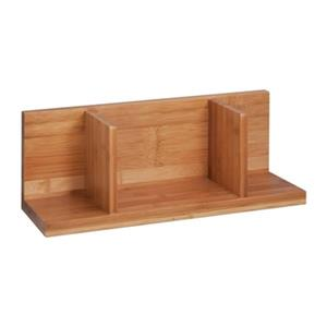 Honey Can Do Bamboo Sectioned Wall Shelf