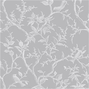 Graham & Brown Simplicity 56 sq ft Grey/Silver Laos Trail Unpasted Wallpaper