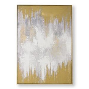 Graham & Brown 39.40-in x 27.60-in Lakeside Reflection Abstract Hand Painted Canvas