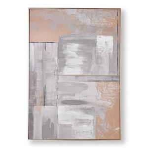 Graham & Brown 39.40-in x 27.60-in Rose Glow Abstract Hand Painted Canvas