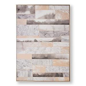 Graham & Brown 39.40-in x 27.60 Rose Quartz Dimension Abstract Printed Canvas