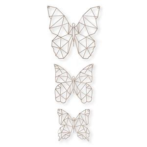 Graham & Brown Gold Flutter Metal Art (Set of 3)