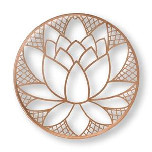 Graham & Brown Copper Lotus Blossom Metal Art