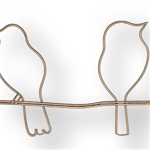Graham & Brown Soft Rose Bird On A Wire Metal Art