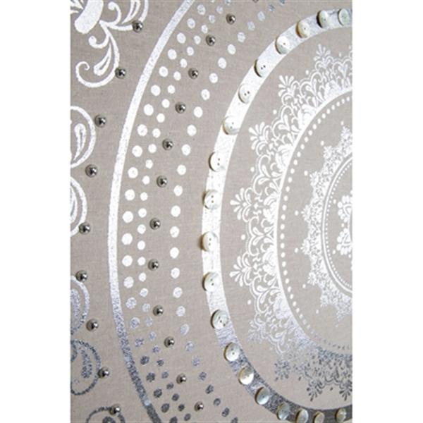 Graham & Brown 31.50-in x 31.50-in Embellished Cocoon Fabric Art