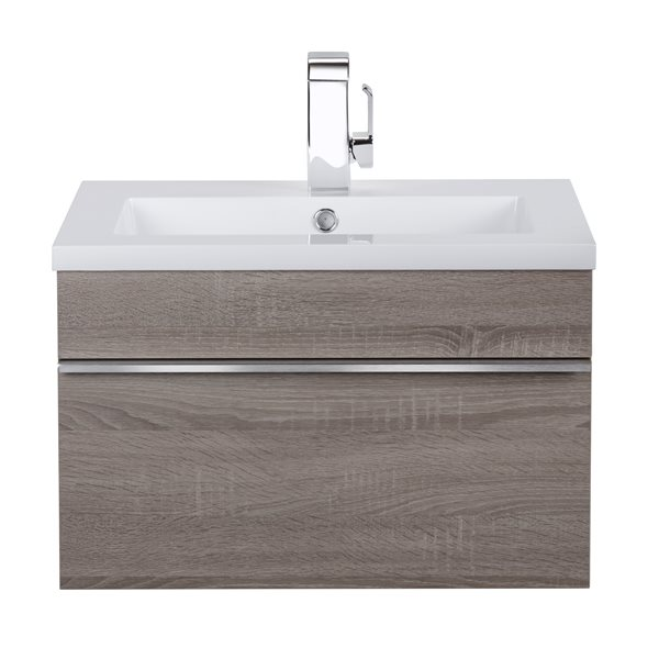 Cutler Kitchen & Bath Meuble-lavabo mural Trough, 24, acrylique, Dorato FV TR DORATO24