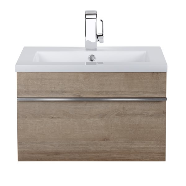 Cutler Kitchen & Bath Meuble-lavabo mural Trough, 24, acrylique, Organic FV TR ORGANIC24