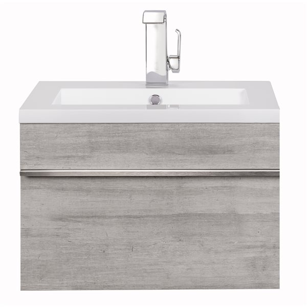 Cutler Kitchen & Bath Meuble-lavabo mural Trough, 24, acrylique, Soho FV TR SOHO24