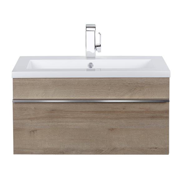 Single Sink Bathroom Vanity, White Trough Sink Bathroom Vanity