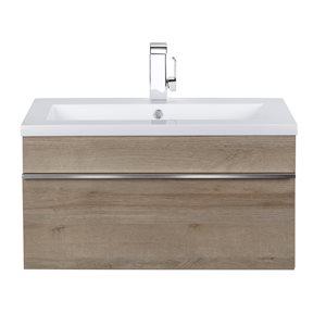 Cutler Kitchen & Bath Trough 30-in Organic Trough Wall Mounted Bathroom Vanity