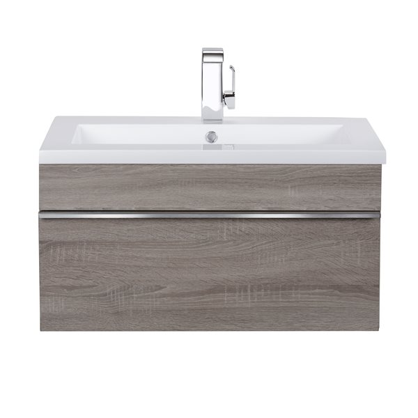 Cutler Kitchen & Bath Meuble-lavabo mural Trough, 30, acrylique, Dorato FV TR DORATO30