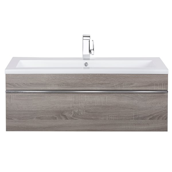 Cutler Kitchen & Bath Meuble-lavabo mural Trough, 42, acrylique, Dorato FV TR DORATO42
