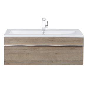 Cutler Kitchen & Bath Trough 42-in Organic Trough Wall Mounted Bathroom Vanity