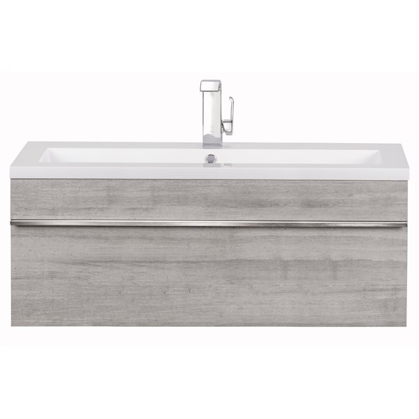 Cutler Kitchen & Bath Meuble-lavabo mural Trough, 42, acrylique, Soho FV TR SOHO42