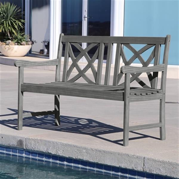 Vifah Patio Furniture.Vifah Renaissance Outdoor Patio Hand Scraped 6 Piece Wood Dining Set