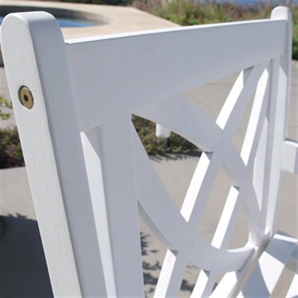 Vifah Bradley Outdoor Patio Wood Garden Armchair