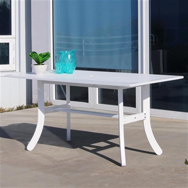 Vifah V13 Atlantic Rectangular Outdoor Dining Table,V1337