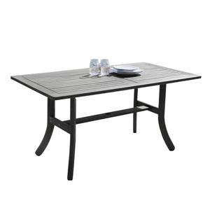 Vifah Renaissance Dining Table - 59-in x 29-in - Wood - Gray