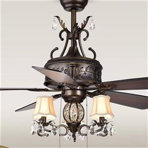 Warehouse of Tiffany Firtha 52-in Bronze 3-Light Ceiling Fan