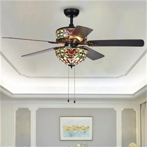 Warehouse of Tiffany Ransoe 52-in Black 6-Light Ceiling Fan