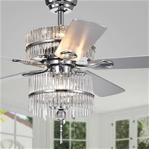 Warehouse of Tiffany Wyllow 52-in Chrome 6-Light Ceiling Fan