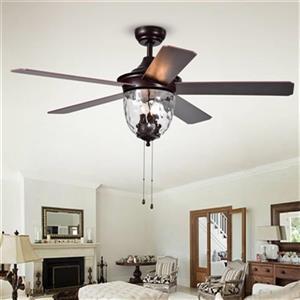 Warehouse of Tiffany Josalie 52-in Bronze 3-Light Ceiling Fan