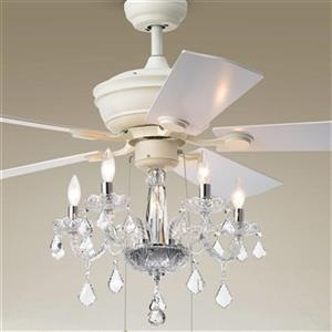 Warehouse of Tiffany Havorand II 52-in White 5-Light Ceiling Fan
