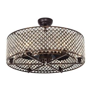 Ventilateur de plafond Miyaka à 6 lumières, 29