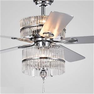 Warehouse of Tiffany Wyllow 52-in Chrome 6-Light Ceiling Fan