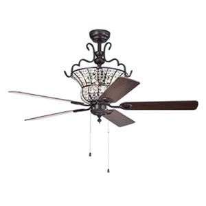 Warehouse of Tiffany Charla II 52-in Bronze 3-Light Ceiling Fan