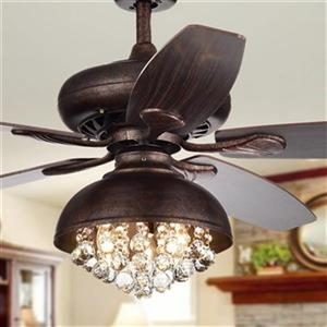 Fredix 3-Light Ceiling Fan - 52