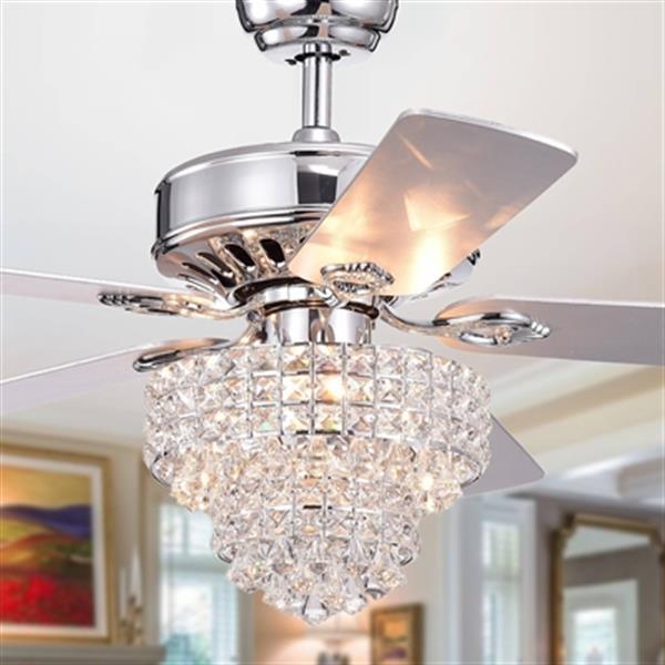 Warehouse of Tiffany Bryanya 52-in Chrome 3-Light Ceiling Fan