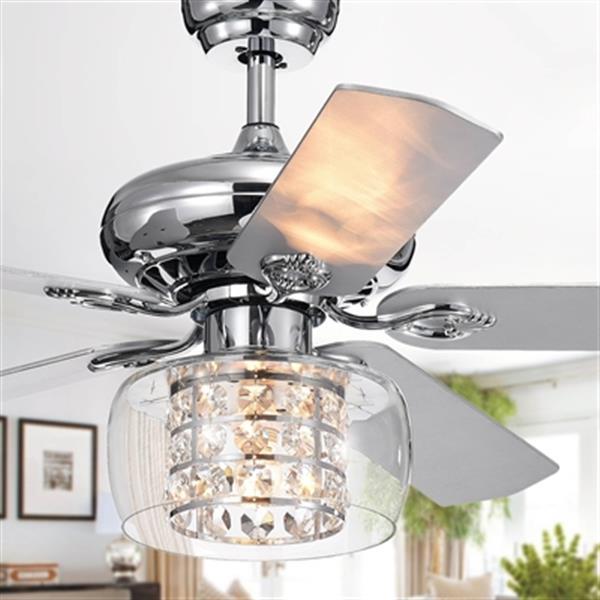 Warehouse of Tiffany Cayten 52-in Chrome Ceiling Fan