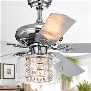 Warehouse of Tiffany Cayten 52-in Chrome Ceiling Fan