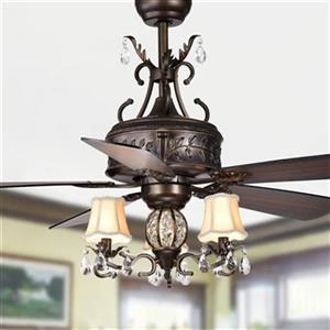 Warehouse of Tiffany Firtha 3-Light Ceiling Fan - Bronze