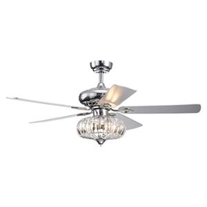 Warehouse of Tiffany Kyana DeBase 52-in Chrome 5-Blade Celing Fan