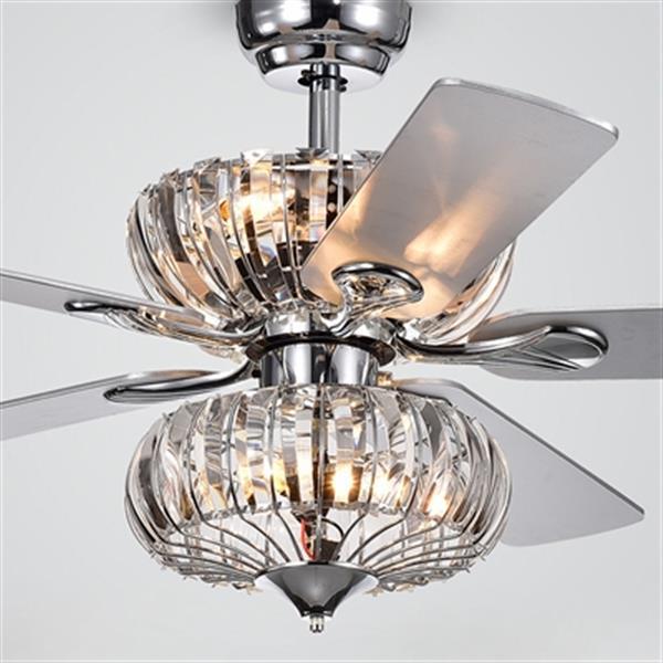 Warehouse of Tiffany Kyana 52-in Chrome 6-Light Celing Fan