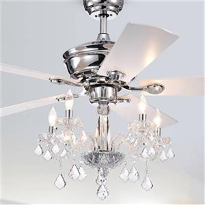 Warehouse of Tiffany Havorand III 52-in Silver 5-Light Ceiling Fan
