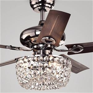 Warehouse of Tiffany Angel 3-Light Ceiling Fan - Satin Brown