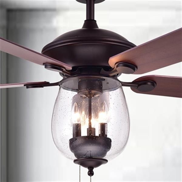Warehouse Of Tiffany Tibwald 52 In 3 Light Ceiling Fan Cfl 8205 Orb Rona