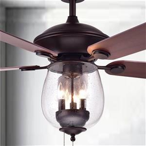 Warehouse of Tiffany Tibwald 52-in 3-Light Ceiling Fan