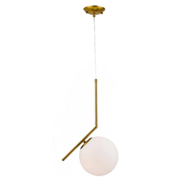 Design Living 7.8-in Brass Globe Mini Pendant Light