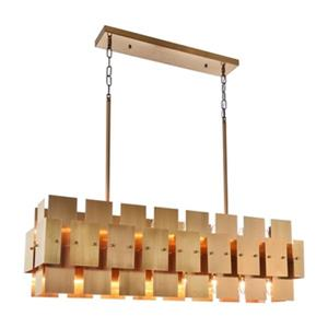 Bethel International Brass 16-Light Geometric Chandelier