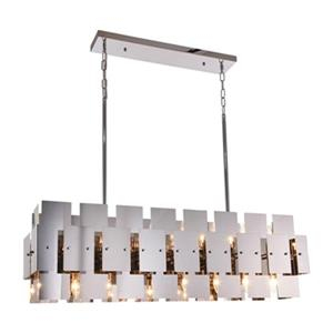 Bethel International Geometric Stainless Steel 16-Light Geometric Chandelier