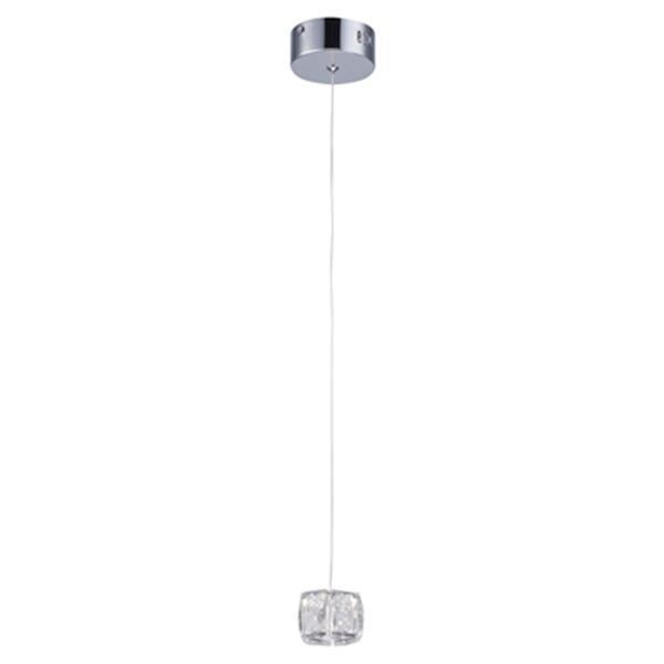 Design Living 2-in Crystal Cube Mini Pendant Light