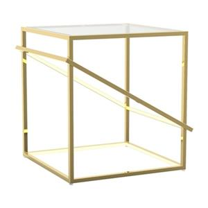 Bethel International 20.50-in x 19.60-in x 20-in Gold LED Lighted End Table