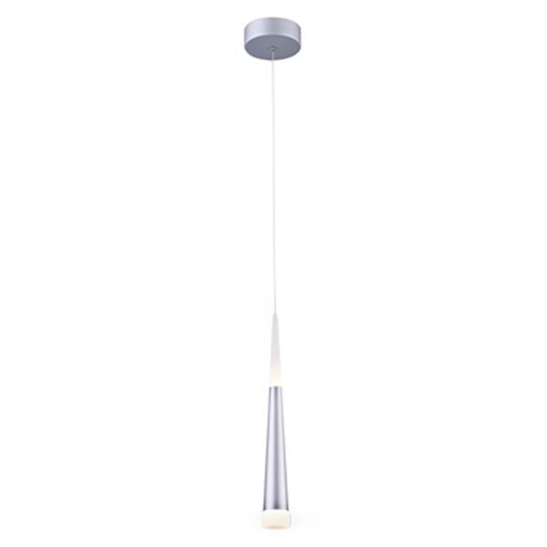 Design Living 3.9-in Silver Cone LED Mini Pendant Light