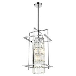 Design Living 11.8-in Silver Crystal Cage 3-Light Mini Pendant Light