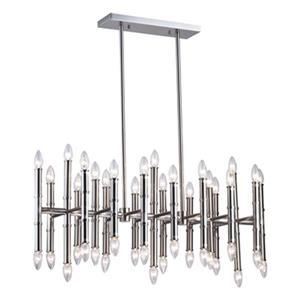 Design Living Bamboo Pipe Linear 42-Light Chandelier